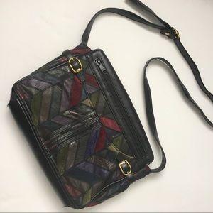 La Covina vintage leather bag, patchwork